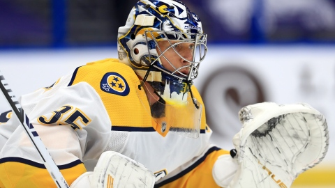 Pekka Rinne gagne le trophée King-Clancy