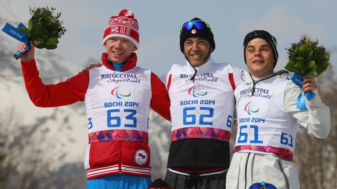 Stanislav Chokhlaev, Brian McKeever et Zebastian Modin