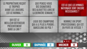 Le débat : important l'hymne national?