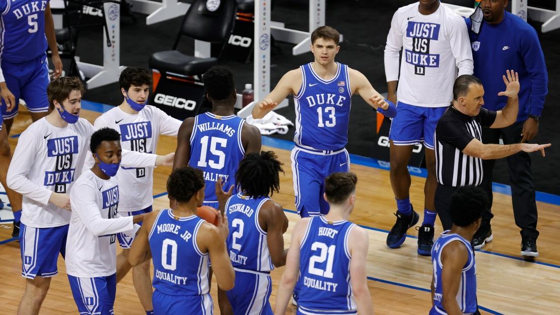 Des joueurs des Blue Devils de l'Université Duke