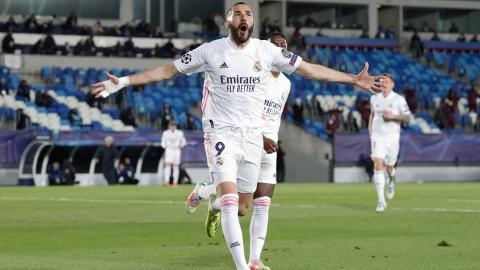 Karim Benzema emmène le Real en quarts