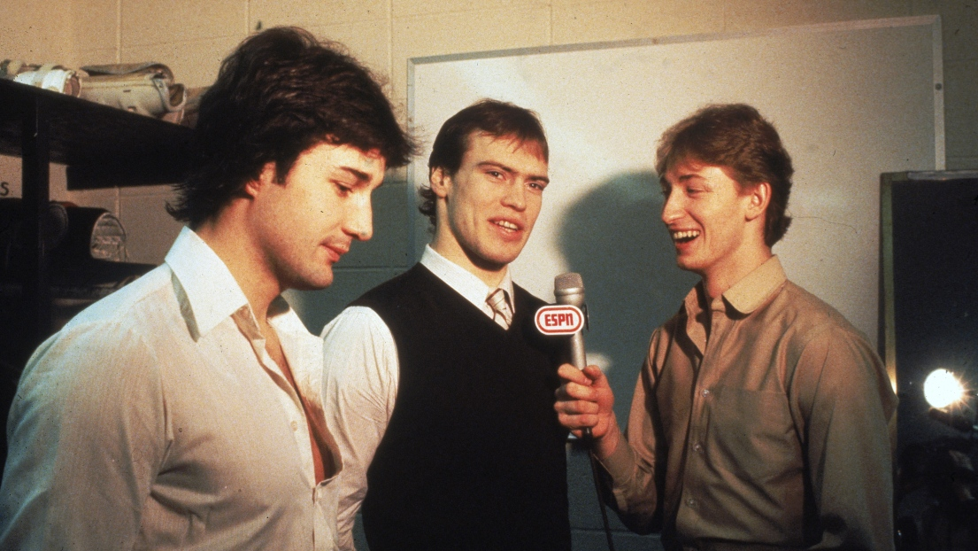 Paul Coffey, Mark Messier et Wayne Gretzky