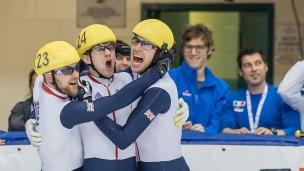 L'équipe masculine du relais masculin