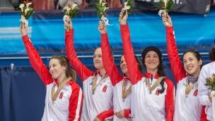 L'équipe canadienne de relais féminin