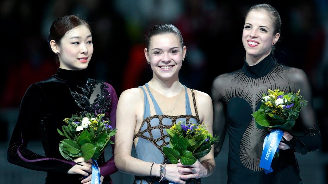 Yuna Kim, Adelina Sotnikova et Carolina Kostner