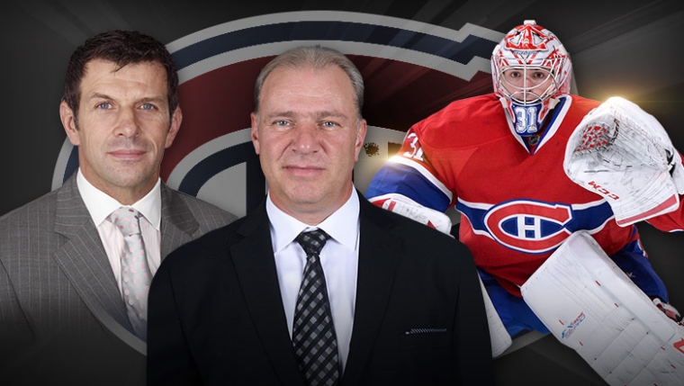 Marc Bergevin, Michel Therrien et Carey Price
