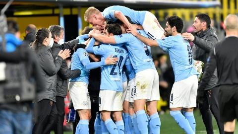 C1 : Man City écarte Dortmund, le Real suit