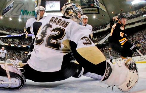 Mathieu Garon avec les Penguins