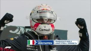 Verstappen s'impose dans un fou GP d'Imola