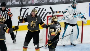 Sharks 2 - Golden Knights 3 (Tirs de barrage)