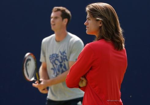 Andy Murray et Amélie Mauresmo