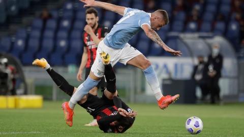 L'AC Milan chute lourdement contre la Lazio
