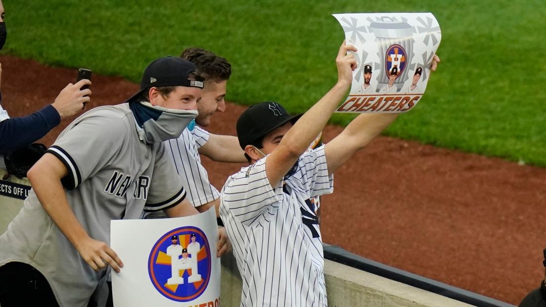 Des partisans des Yankees