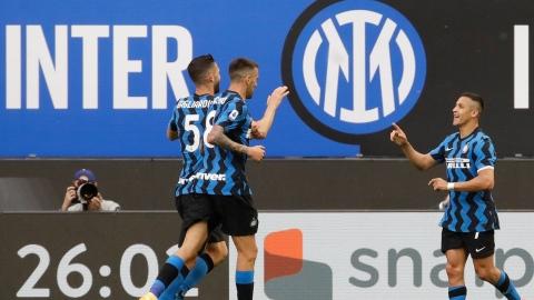 L'Inter Milan fête son titre en malmenant la Sampdoria