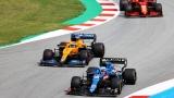Esteban Ocon , Daniel Ricciardo et Carlos Sainz fils