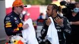 Max Verstappen et Lewis Hamilton