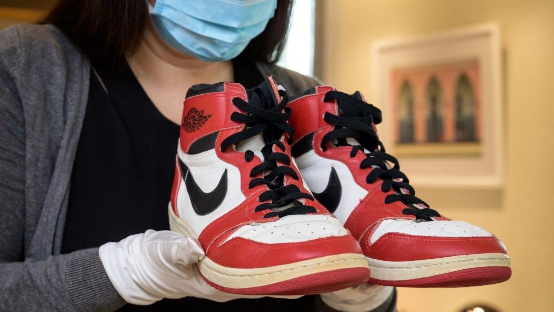 Les Nike Air Jordan portées par Michael Jordan à sa saison recrue.