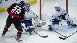Maple Leafs 3 - Sénateurs 4 (prolongation)