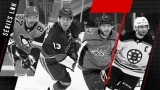 Sidney Crosby, Mathew Barzal, Alex Ovechkin et Patrice Bergeron