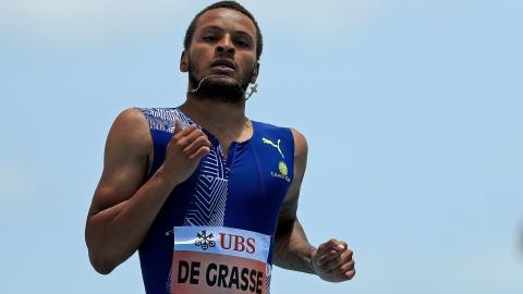 Ligue de diamant : De Grasse termine 2e au 100m aux finales