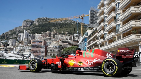 Les Ferrari dominent la 2e séance à Monaco