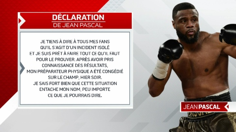 Dopage : un incident isolé selon Jean Pascal