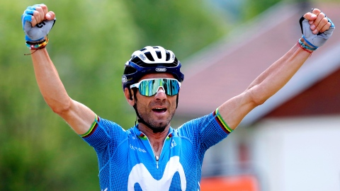 Sicile : Valverde remporte l'étape et prend la tête