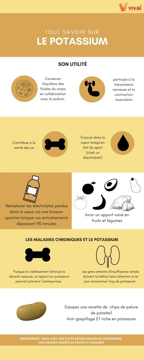 Infographie potassium