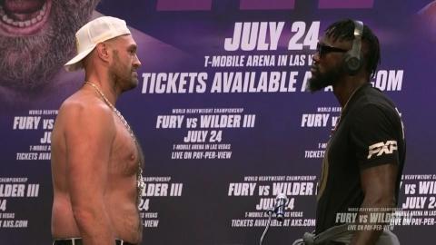Fury-Wilder : face-à-face de plus de 5 minutes!