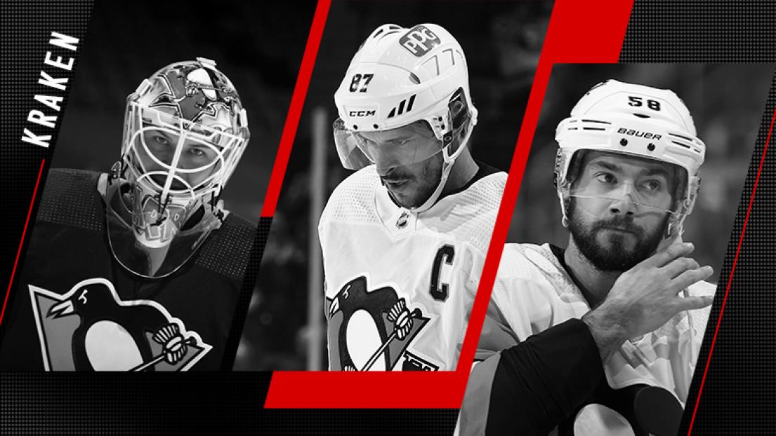 Tristan Jarry, Sidney Crosby et Kristopher Letang