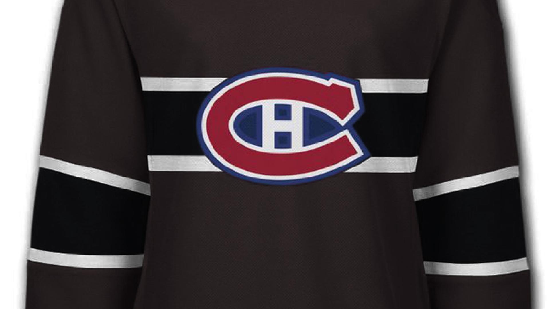 Nouveau Chandail Du Ch En Noir Et Blanc Canadiens Grand Club Rds Ca