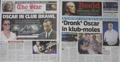 Article du journal The Star sur Oscar Pistorius