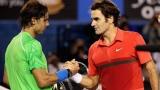 Sur cette photo, Roger Federer et Rafael Nadal.