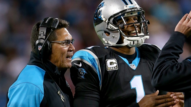 Cam Newton et Ron Rivera
