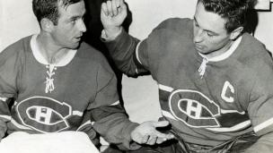Jean Béliveau et Dick Duff