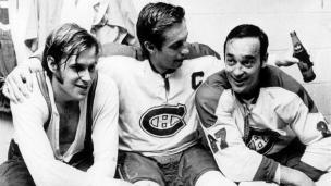 Jean Béliveau, Ken Dryden et Frank Mahovlich
