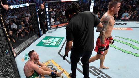 Conor McGregor se fracture le tibia à la fin du 1er round