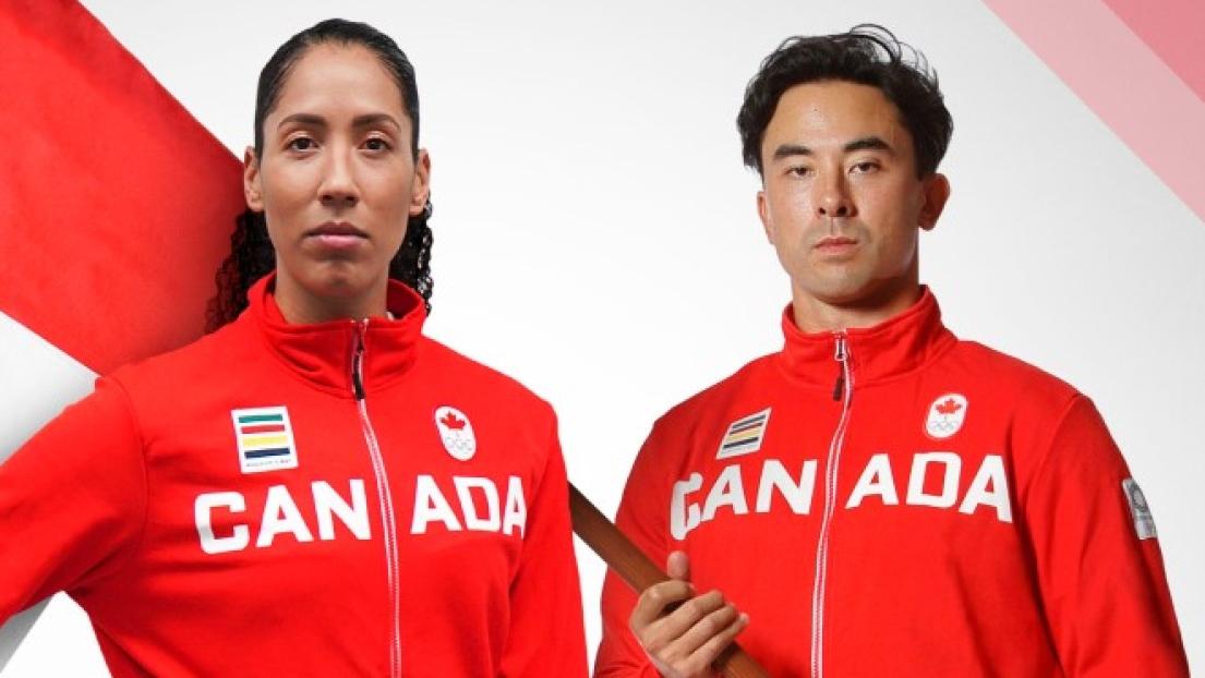 Miranda Ayim et Nathan Hirayama