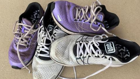 Des chaussures de course, ça se lave!