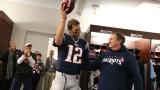 Tom Brady a reçu le ballon du match, aux termes de la rencontre de dimanche soir.