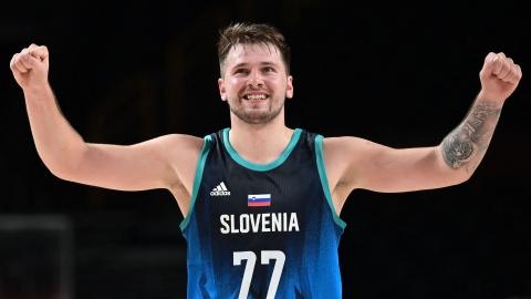 Sublimes débuts olympiques pour Doncic avec la Slovénie