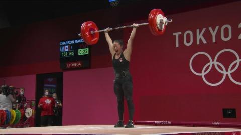 Maude Charron soulève l'or à Tokyo