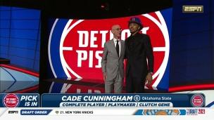 Sans surprise Cade Cunningham est le 1er choix