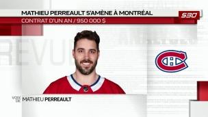 Mathieu Perreault s'amène à Montréal