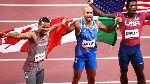 Andre de Grasse remporte la médaille de bronze au 100 mètres