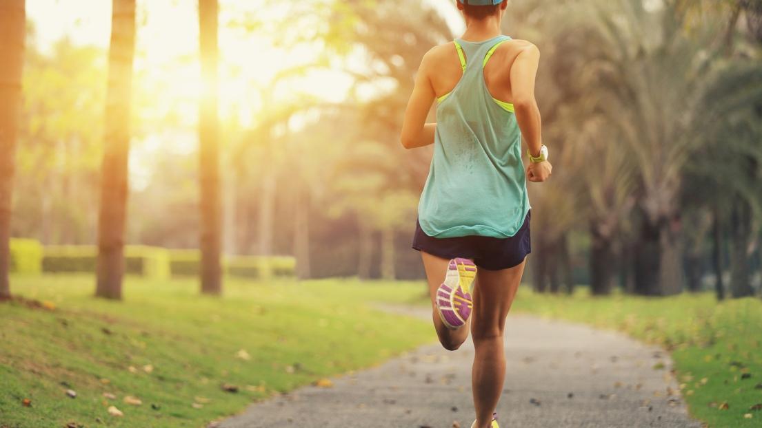 Course à pied matin