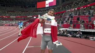 Andre De Grasse remporte l'or au 200 mètres