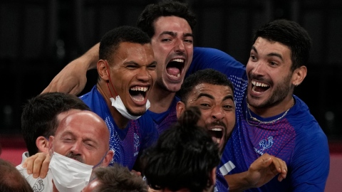 La France remporte l'or en volleyball masculin