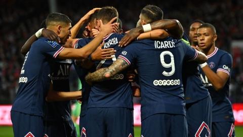 Le Paris SG provisoirement en tête de la Ligue 1