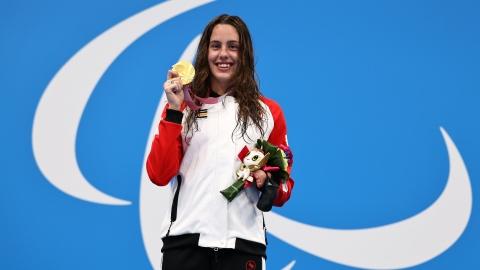 Aurélie Rivard offre une première médaille d'or au Canada